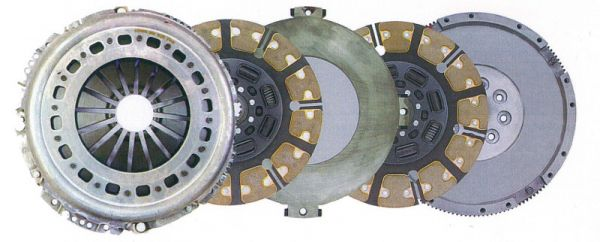 Heavy duty dual-disc clutch